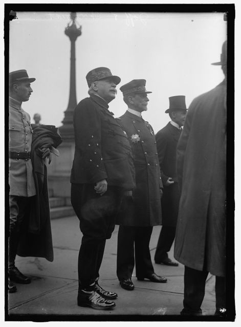 FRENCH COMMISSION TO U.S. JOFFRE, JOSEPH JACQUES CESARE, MARECHAL OF FRANCE, 1916; CHOCHEFRAT, VICE ADMIRAL, FRENCH NAVY