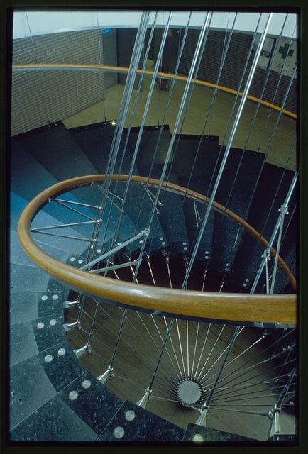 General Motors Technical Center, Warren, Michigan, 1945; 1946-56. Administration Building stair detail