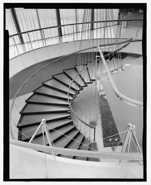 General Motors Technical Center, Warren, Michigan, 1945; 1946-56. Administration Building stair