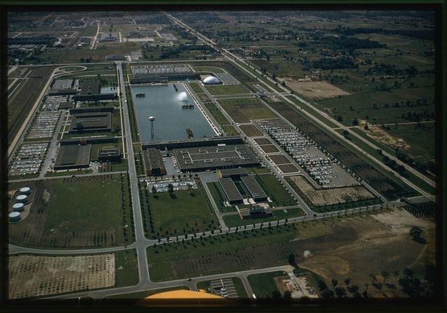 General Motors Technical Center, Warren, Michigan, 1945; 1946-56. Aerial view