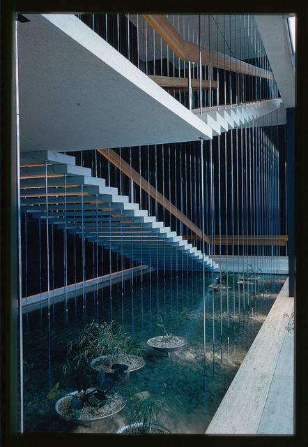 General Motors Technical Center, Warren, Michigan, 1945; 1946-56. Design Center stair