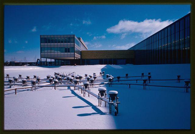 General Motors Technical Center, Warren, Michigan, 1945; 1946-56. Exterior