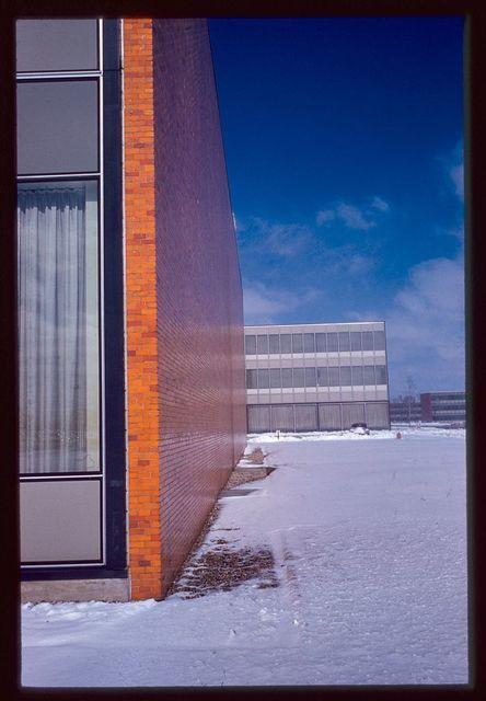 General Motors Technical Center, Warren, Michigan, 1945; 1946-56. Exterior detail