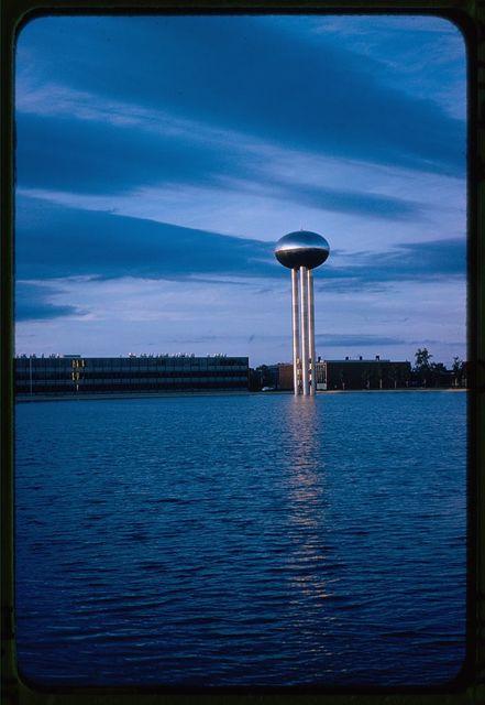 General Motors Technical Center, Warren, Michigan, 1945; 1946-56. Water tower