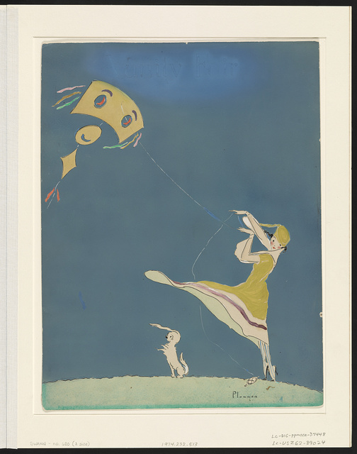 Girl with kite and dog / Plummer.