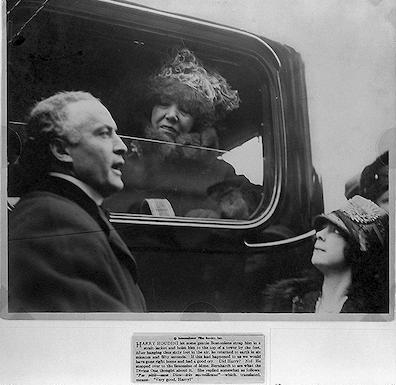 [Harry and Beatrice Houdini with Sarah Bernhardt, Boston]