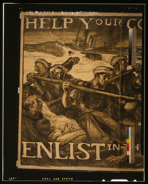 Help your country stop this--Enlist in the Navy / Auto-lithograph by Frank Brangwyn, A.R.A.