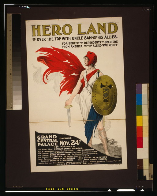 Hero land, or, over the top with Uncle Sam and his allies / A. Rapeño, Paris.