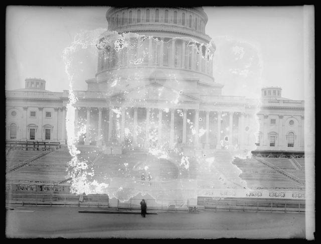 Inaugural stands at Capitol, [Washington, D.C.], 1917