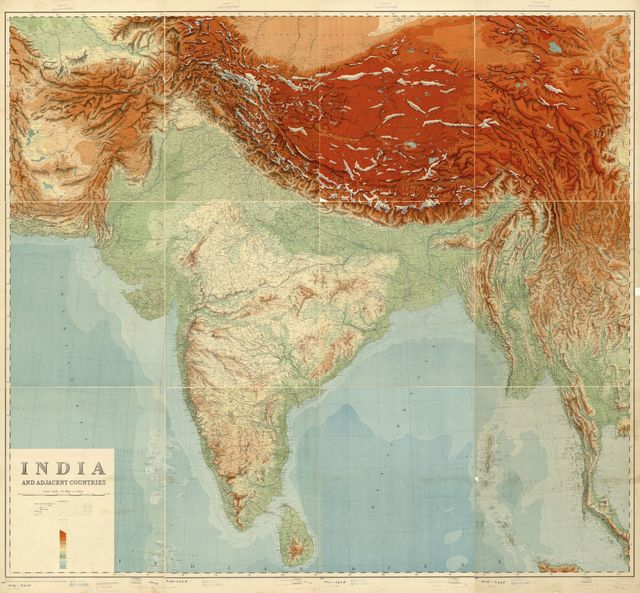 India and adjacent countries /