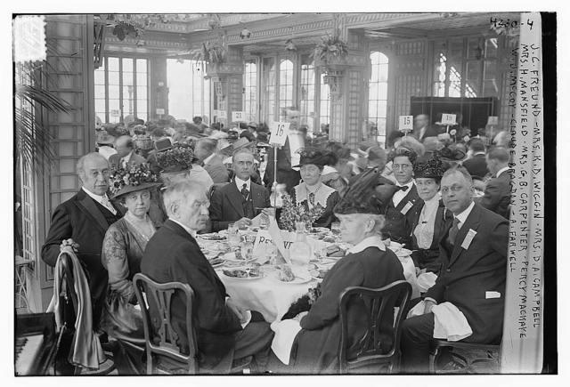 J.C. Freund, Mrs. K.D. Wiggin, Mrs. D.A. Campbell, Mrs. H. Mansfield, Mrs. G.B. Carpenter, Percy Mackaye, W.J. McCoy, Claude Bragdon, A. Farwell