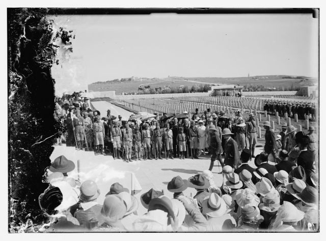 Jerusalem war cemetery dedication