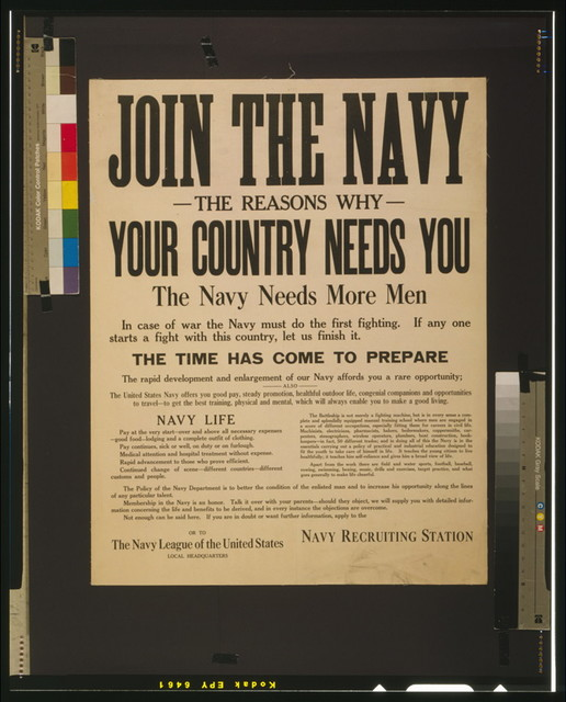 Join the Navy Your country needs you.