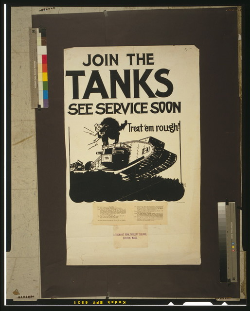 Join the tanks, see service soon Treat 'em rough! / / Sgt. Henry E. Clark.