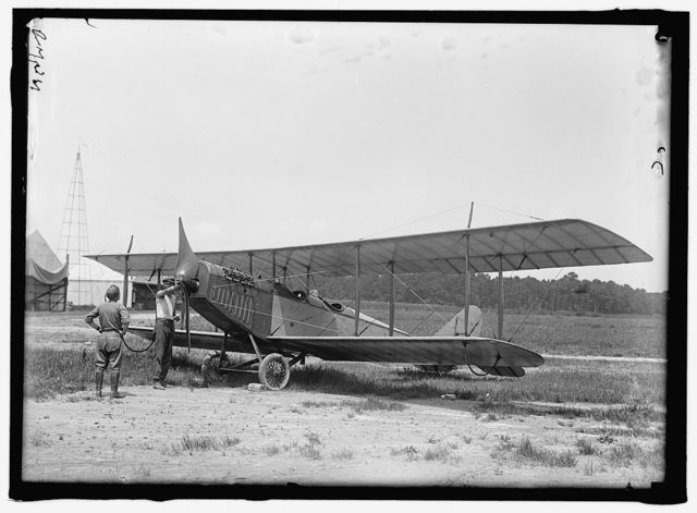 LANGLEY FIELD, VA. CURTIS JN4D PLANE, WITH OLMSTEAD PROPELLER AND ACKERMAN WHEELS