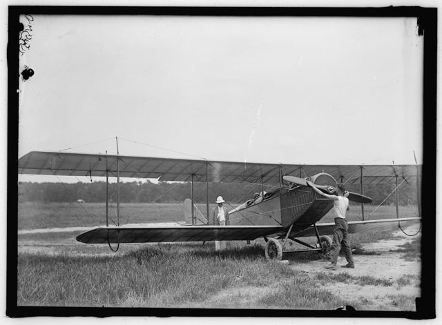LANGLEY FIELD, VA. CURTIS JN4D PLANE, WITH USUAL PROPELLER AND ACKERMAN WHEELS