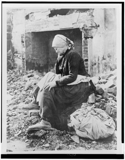Learning of German retreat from her district French woman returns to find her home a heap of ruins