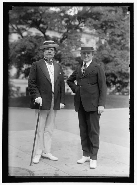 LEWIS, JAMES HAMILTON, REP. FROM WASHINGTON, 1897-1899; SENATOR FROM ILLINOIS, 1913-1919, 1931-. LEFT, WITH TUMULTY