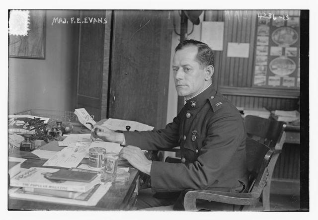 Maj. F.E. Evans