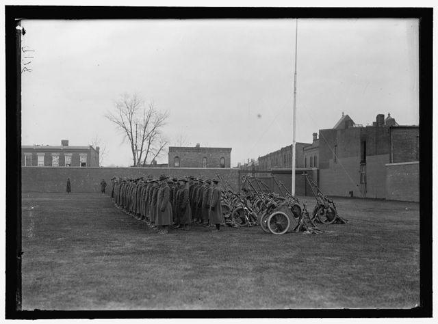 MARINE CORPS, U.S.N. MACHINE GUN UNIT DEMONSTRATION AT BALL PARK