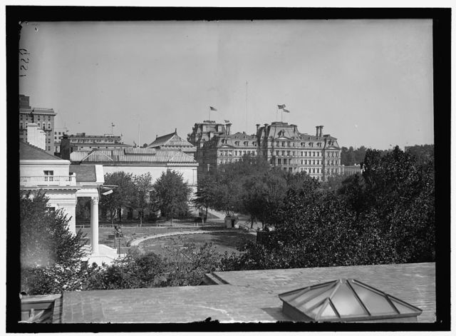 MEMORIAL CONTINENTAL HALL. VIEW FROM ROOF OF CONTINENTAL HALL TOWARD STATE, WAR, AND NAVY BUILDING