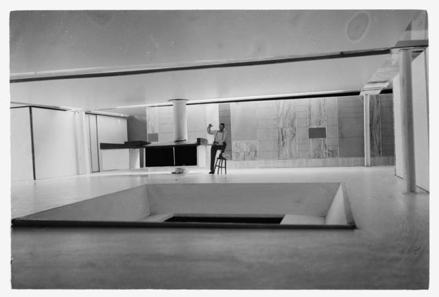 Miller house, Columbus, Indiana, 1953-57. Model