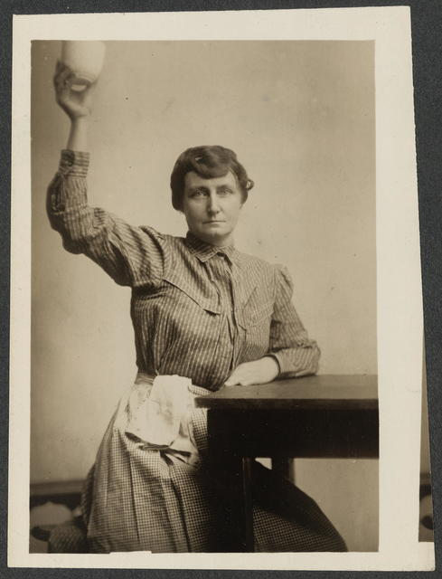 Mrs. Pauline Adams in the prison garb she wore while serving a sixty-day sentence.