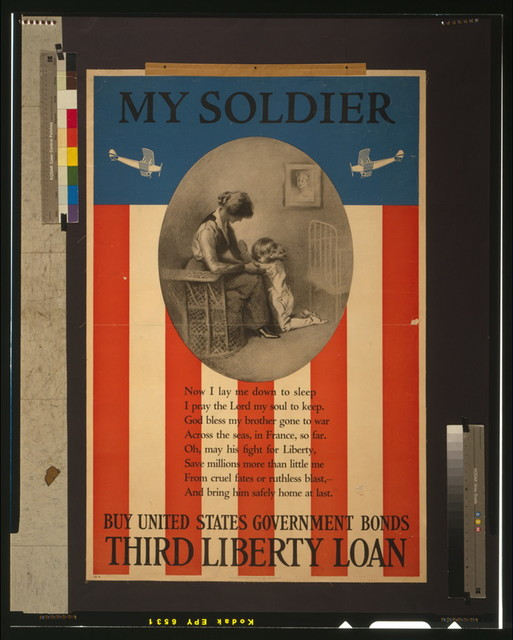 My soldier Buy United States government bonds--Third Liberty Loan / / H.H. Green ; The Matthews-Northrup Works, Buffalo, Cleveland, and New York.
