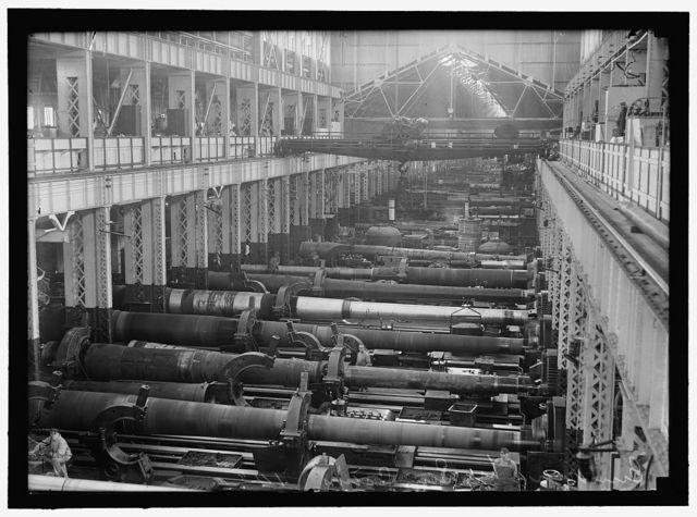NAVY YARD, U.S., WASHINGTON. BIG GUN SECTION OF SHOPS