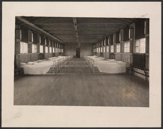 Negro women prostitutes were brought to this sleeping room and placed in beds alternating with suffrage prisoners, 1917.