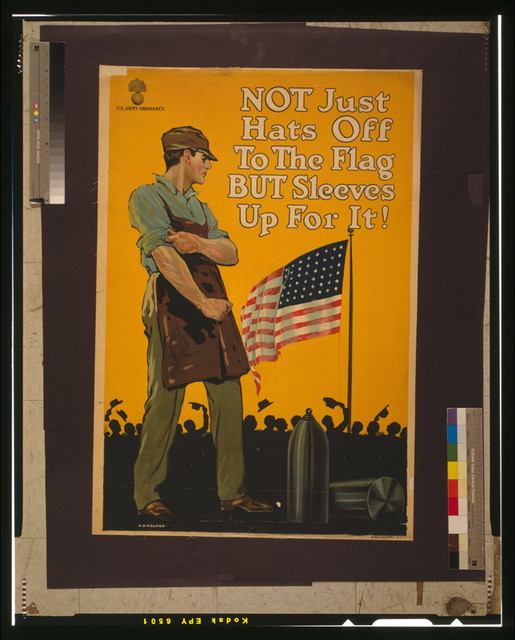 Not just hats off to the flag but sleeves up for it! / A. H. Palmer ; Alpha Litho. Co. Inc., N.Y.