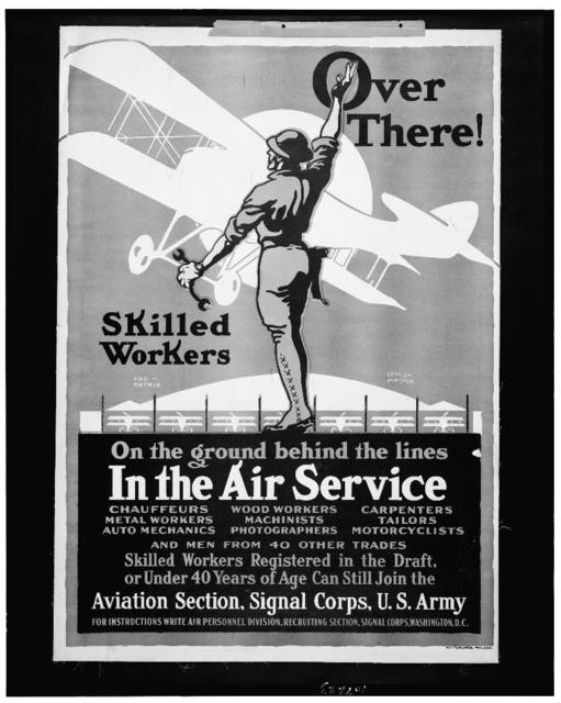 Over there! Skilled workers On the ground behind the lines - In the Air Service / / Louis Fancher.