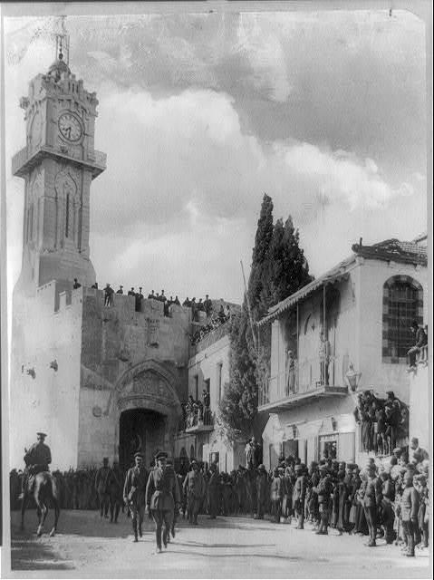 Palestine - Jerusalem. General Allenby's entrance into Jerusalem