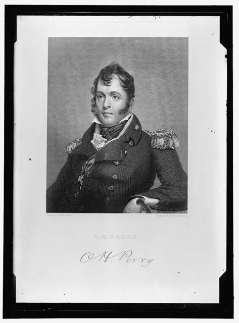 PERRY, OLIVER HAZARD, COMMODORE, U.S.N. ENGRAVED PORTRAIT