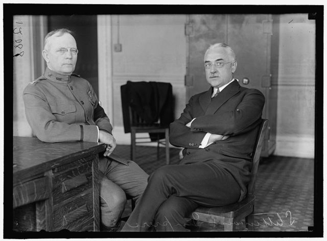 PIERCE, PALMER EDDY, COLONEL, U.S.A.; DIRECTOR OF PURCHASES. LEFT, WITH EDWARD R. STETTINIUS