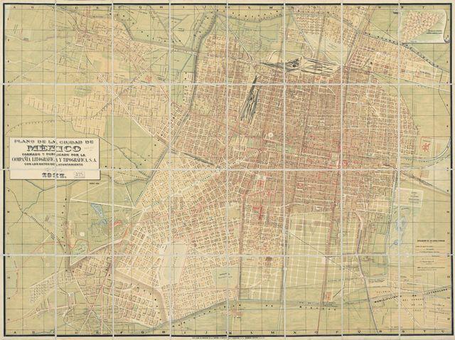 Plano de la Ciudad de México /