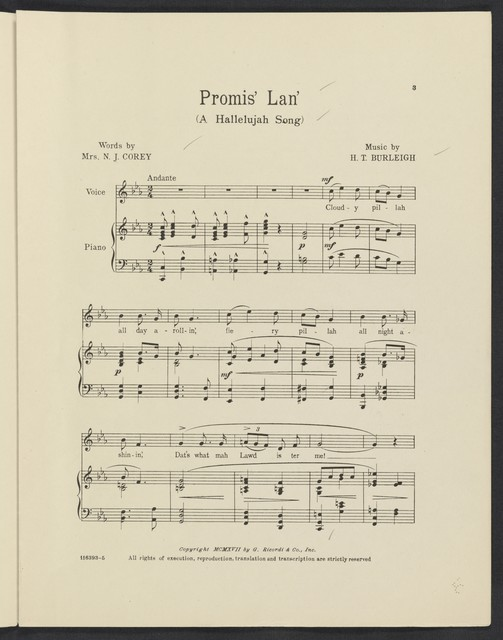 Promis' lan' a Hallelujah song