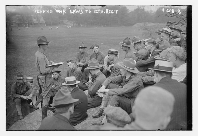 Reading war laws to 12th Regt.