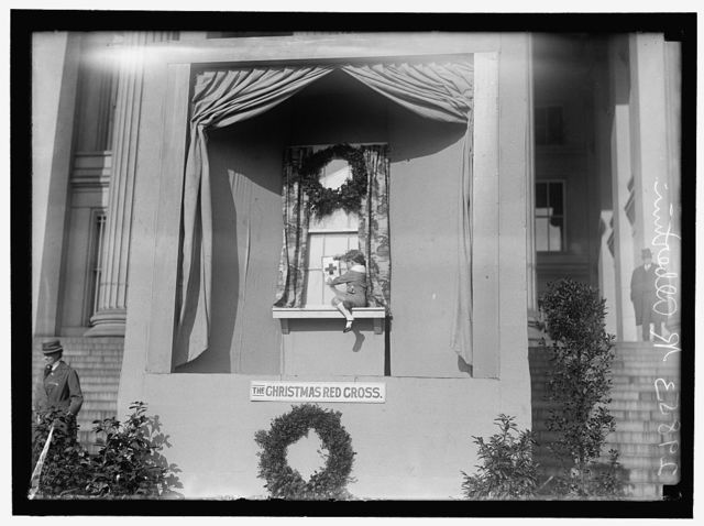 RED CROSS DEMONSTRATION WITH TABLEAUX, ON SOUTH FRONT OF TREASURY