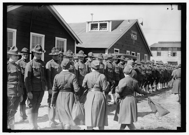 RED CROSS MOTOR CORPS AT CAMP MEIGS