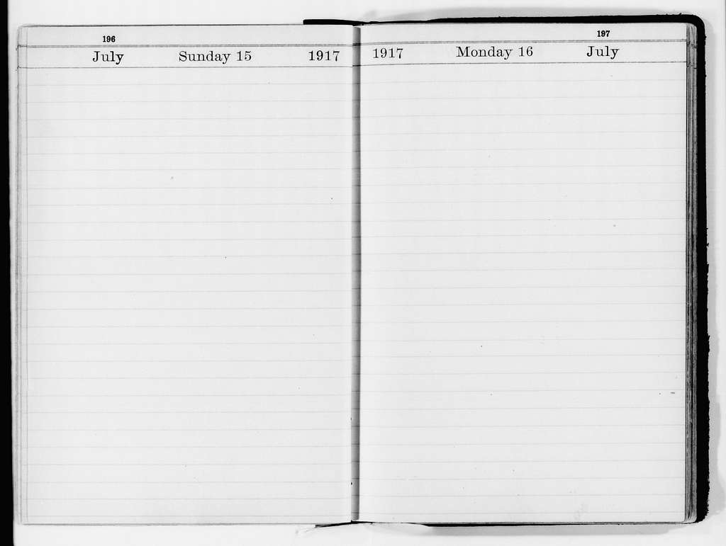 Robert Lansing Papers: Desk Diaries and Notes, 1914-1920; General; 1917