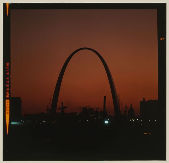Saint Louis Gateway Arch (originally Jefferson National Expansion Memorial), Saint Louis, Missouri, 1947-65; dedicated, 1968. View