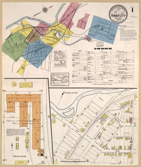 Sanborn Fire Insurance Map from Homer City, Indiana County, Pennsylvania.