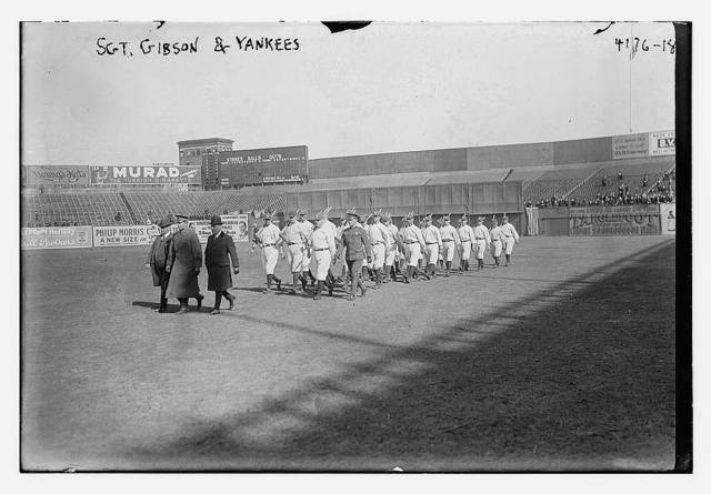 Sgt. Gibson drilling Yankees, 1917