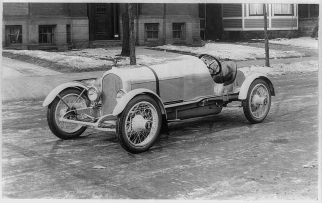 [Side view of the Disbrow Special motor car]