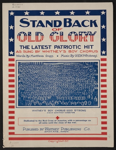 Stand back of old glory the latest patriotic hit