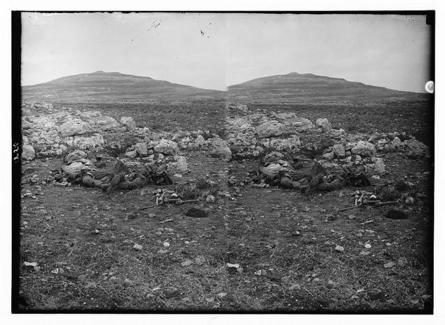 Tell el-Ful battlefield, etc. Fallen Turks scattered over the battlefield.