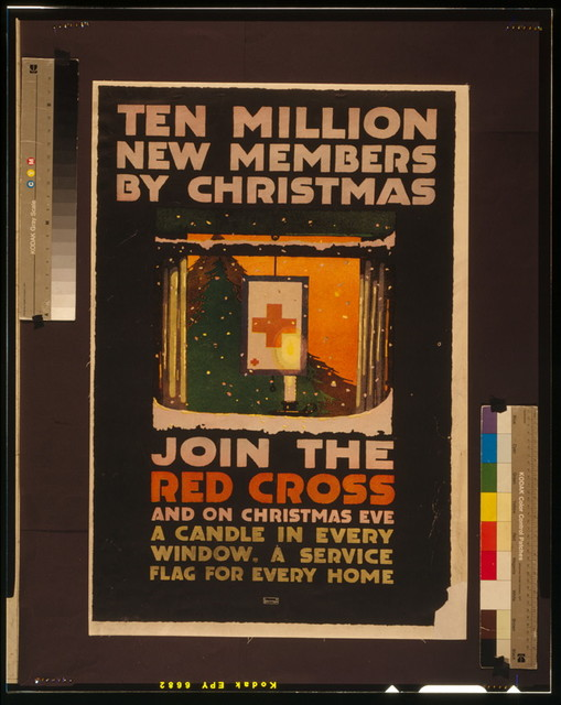 Ten million new members by Christmas Join the Red Cross, and on Christmas Eve a candle in every window, a service flag for every home / / LN Britton.