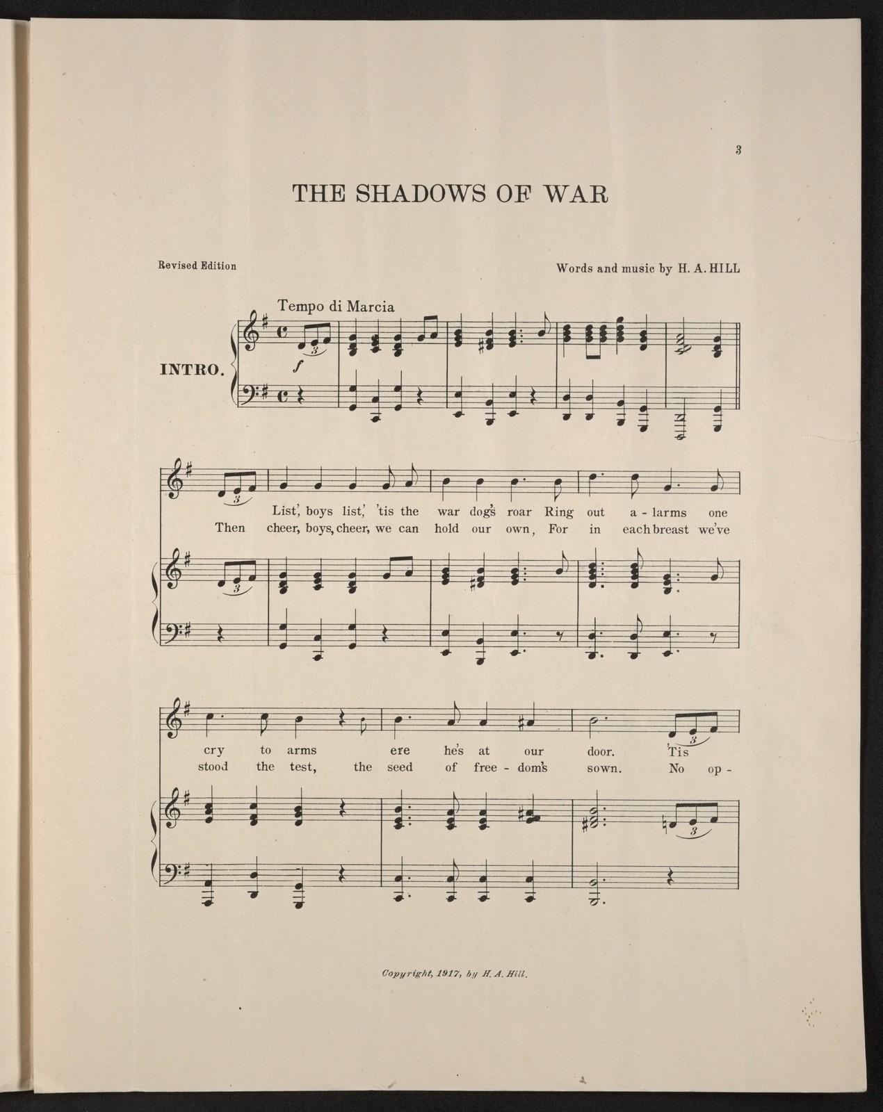 The  shadows of war