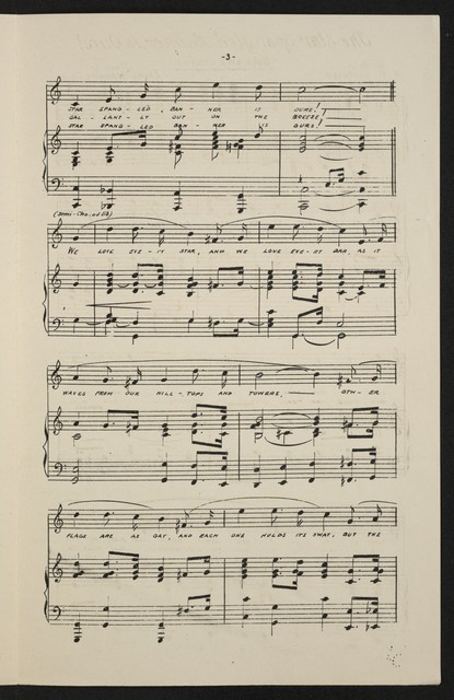 The  star spangled banner is ours! solo and chorus with piano or organ accompaniment